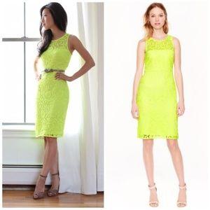 J Crew Neon Lace Shift Dress